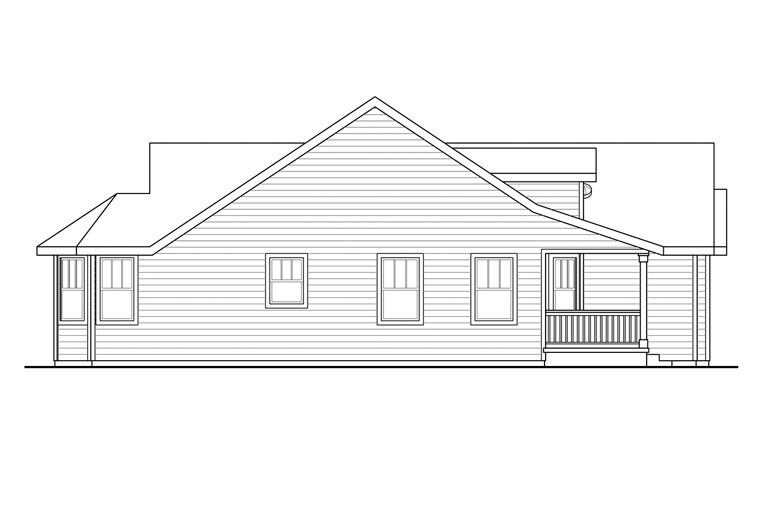 Cottage, Country, Ranch, Traditional House Plan 60931 with 3 Beds, 2 Baths, 3 Car Garage Picture 1