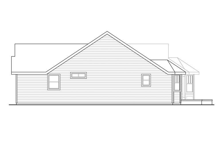Cottage, Country, Ranch, Traditional House Plan 60931 with 3 Beds, 2 Baths, 3 Car Garage Picture 2