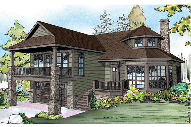 Tudor , European , Country , Contemporary , Cape Cod House Plan 60933 with 1 Beds, 2 Baths, 1 Car Garage Elevation