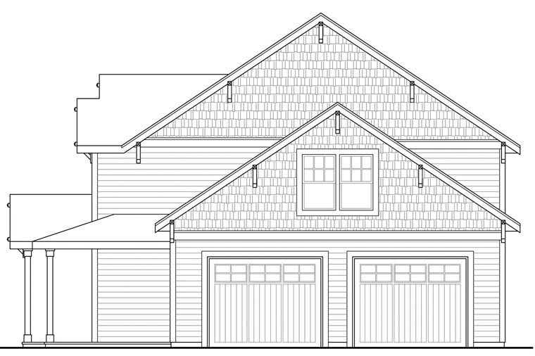 Country, Traditional House Plan 60943 with 3 Beds, 3 Baths, 2 Car Garage Picture 2