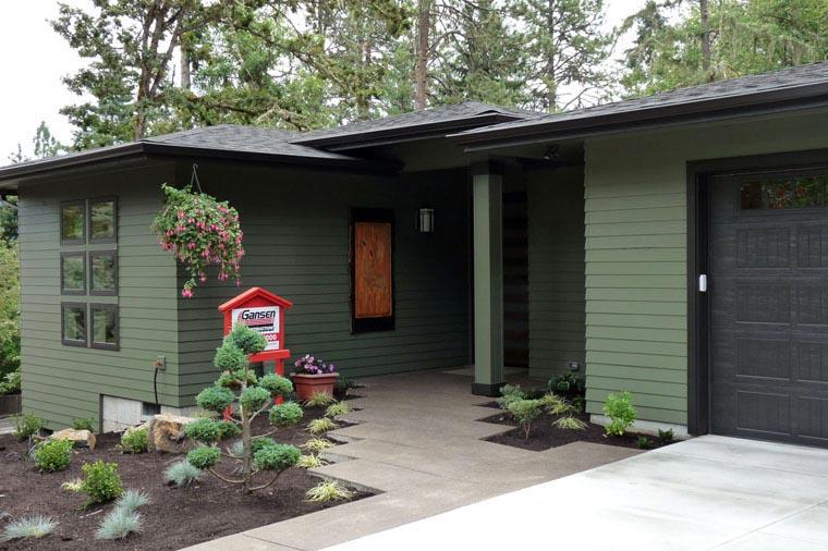 Contemporary Craftsman Prairie Style Ranch House Plan 60945
