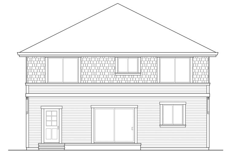 Cape Cod Cottage Country House Plan 60946 Rear Elevation