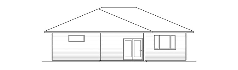 House Plan 60947 Rear Elevation