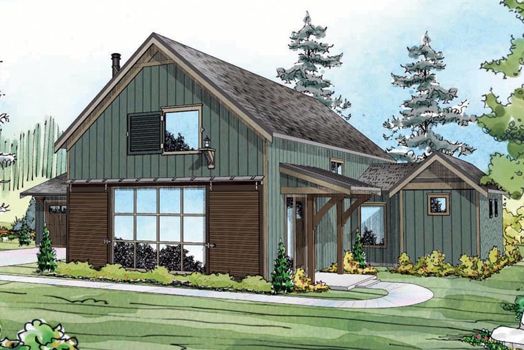 Contemporary Cottage Country Craftsman Ranch House Plan 60951 Elevation