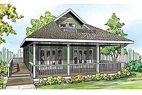 Cape Cod Contemporary Cottage Country Craftsman House Plan 60953 Elevation