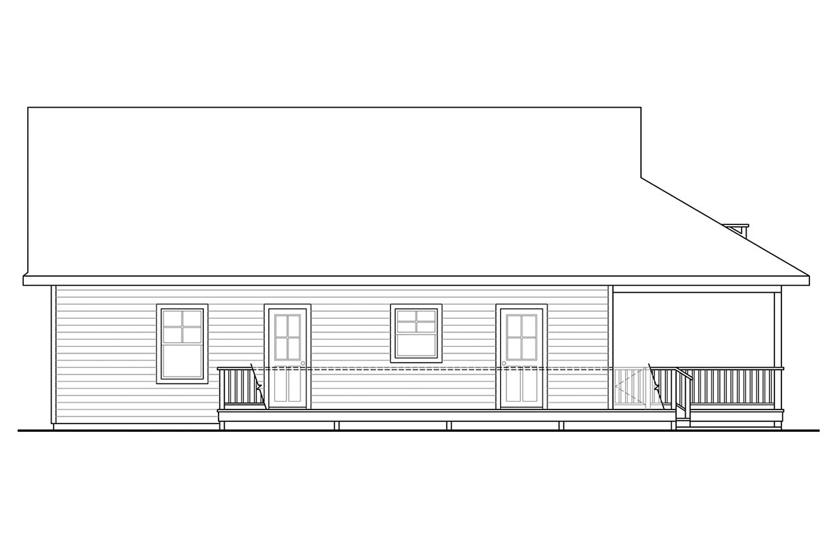 Cape Cod, Contemporary, Cottage, Country, Craftsman House Plan 60953 with 2 Beds, 2 Baths Picture 2