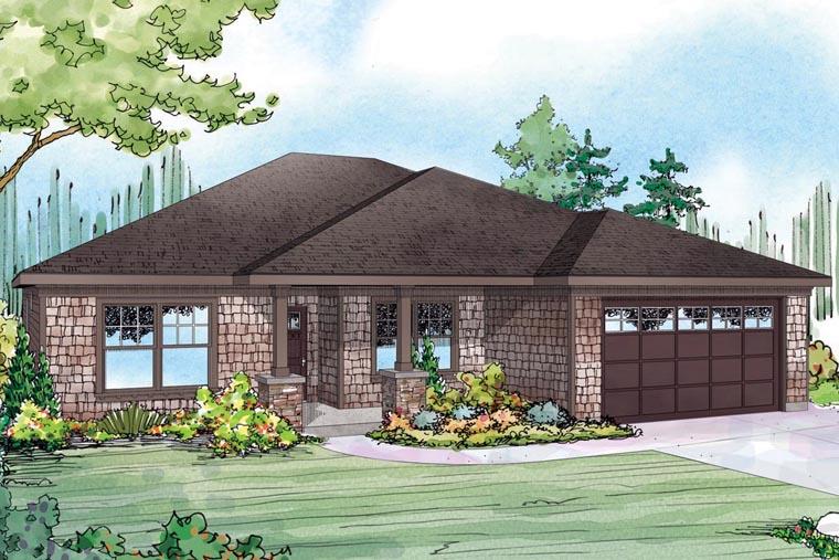 Cape Cod Cottage Ranch House Plan 60957 Elevation