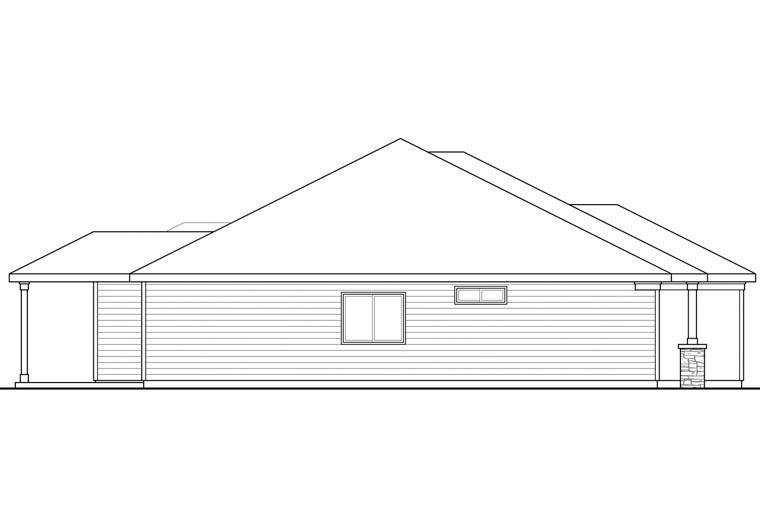 Cape Cod Cottage Ranch House Plan 60957