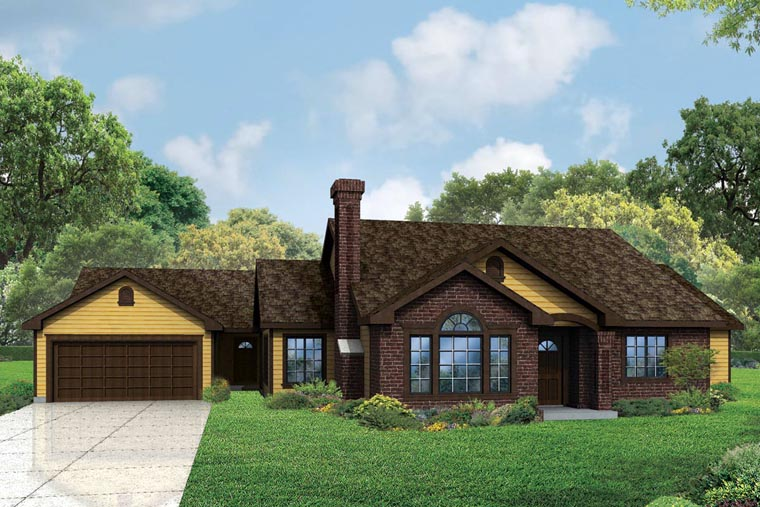 Cottage Country European Traditional House Plan 60959 Elevation