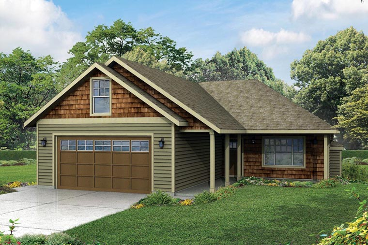 Cottage Country Ranch Traditional House Plan 60962 Elevation