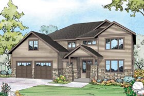 Plan Number 60964 - 2689 Square Feet