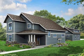 Cottage Country Traditional House Plan 60966 Elevation
