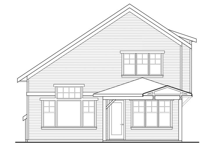 Cottage Country Traditional House Plan 60966 Rear Elevation