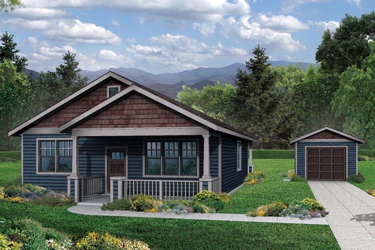 Bungalow Cottage Country House Plan 60969 Elevation