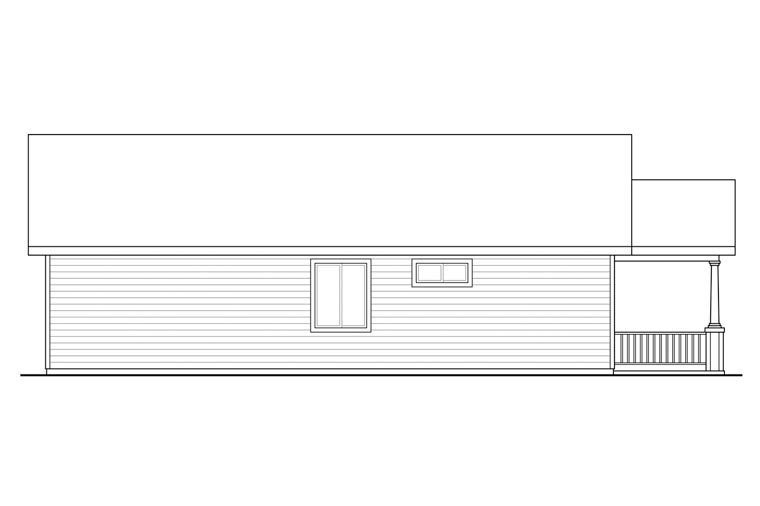 Bungalow, Cottage, Country House Plan 60969 with 3 Beds, 2 Baths Picture 1