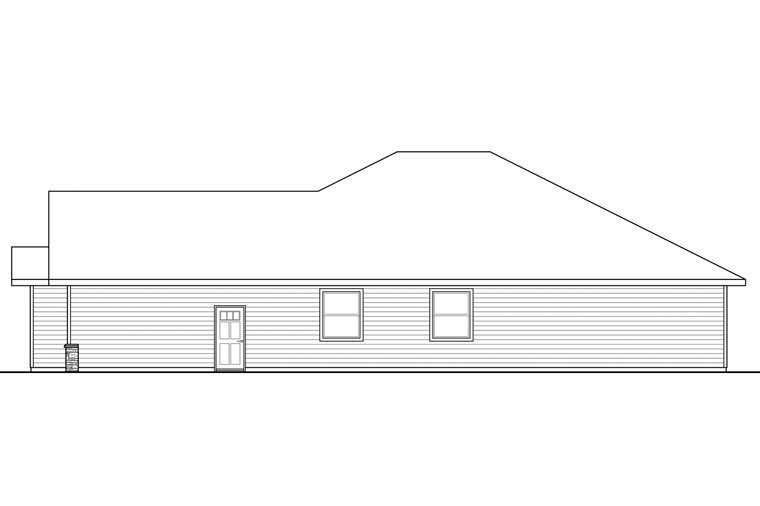 Craftsman, Ranch, Traditional House Plan 60970 with 3 Beds, 2 Baths, 2 Car Garage Picture 1