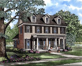 Colonial House Plan 61000 Elevation