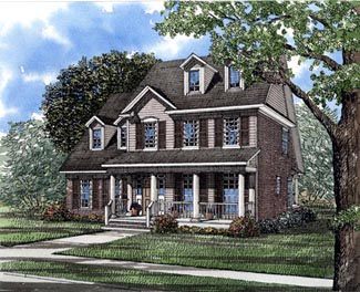 Country House Plan 61002 Elevation