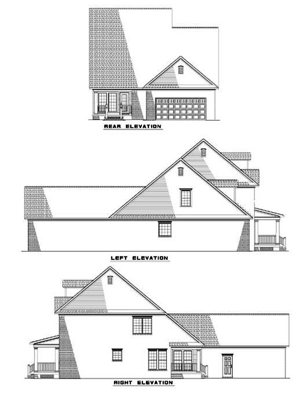 Country House Plan 61002 Rear Elevation