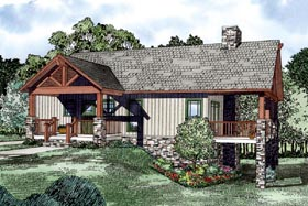Country Traditional House Plan 61004 Elevation