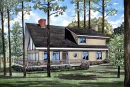 Traditional House Plan 61006 with 3 Beds, 2 Baths, 2 Car Garage Elevation