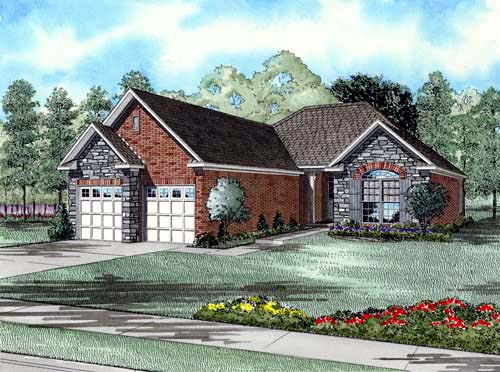 European House Plan 61008 Elevation
