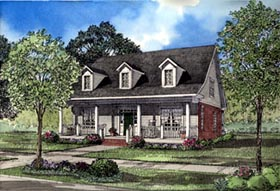 Country Southern House Plan 61011 Elevation