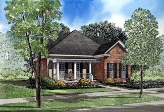 Colonial Country House Plan 61012 Elevation