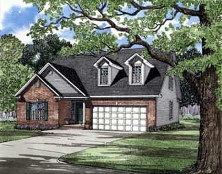 Traditional , Elevation of Plan 61014