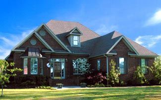European House Plan 61015 with 4 Beds, 3 Baths, 2 Car Garage Picture 1