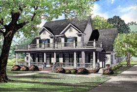 Country Southern House Plan 61020 Elevation