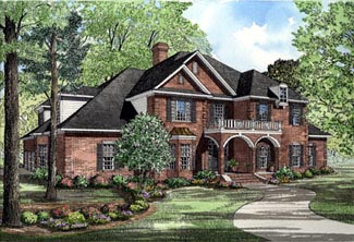 European Traditional House Plan 61021 Elevation