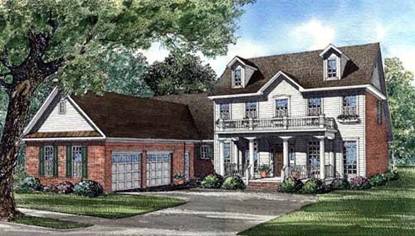 Coastal Colonial House Plan 61024 Elevation