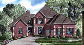 European House Plan 61026 Elevation