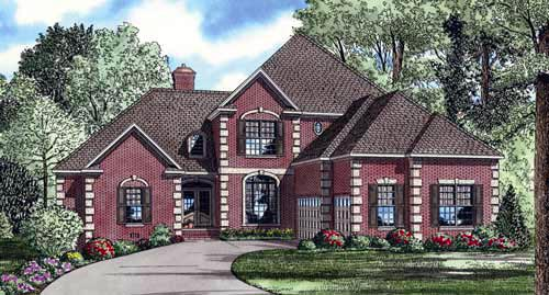 European House Plan 61026 Elevation