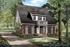 Cape Cod Colonial Southern House Plan 61028 Elevation
