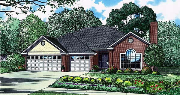 European House Plan 61030 Elevation