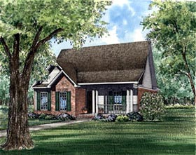 Plan Number 61035 - 1490 Square Feet
