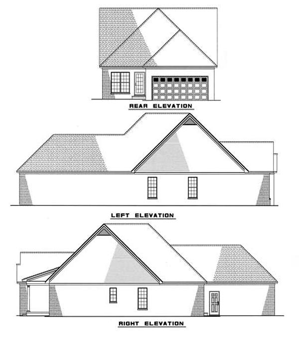Country Southern House Plan 61035 Rear Elevation