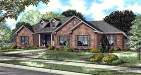 European Traditional House Plan 61039 Elevation