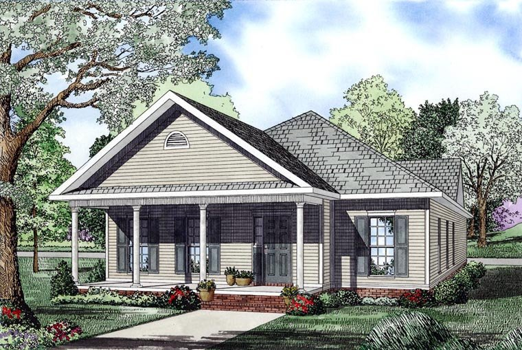 Cape Cod Country Southern House Plan 61041 Elevation