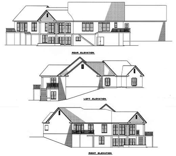 Country House Plan 61043 Rear Elevation