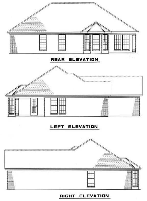 Traditional House Plan 61044 Rear Elevation