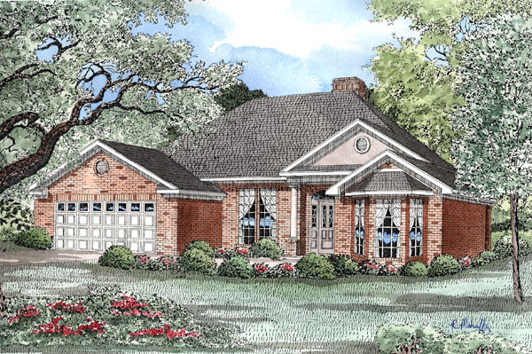 Traditional House Plan 61048 Elevation