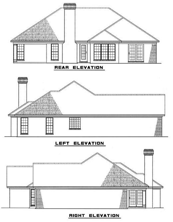 Traditional House Plan 61048 Rear Elevation