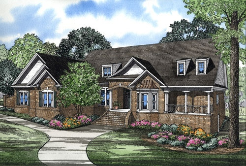 Country, Southern House Plan 61049 with 3 Beds, 2 Baths, 3 Car Garage Elevation