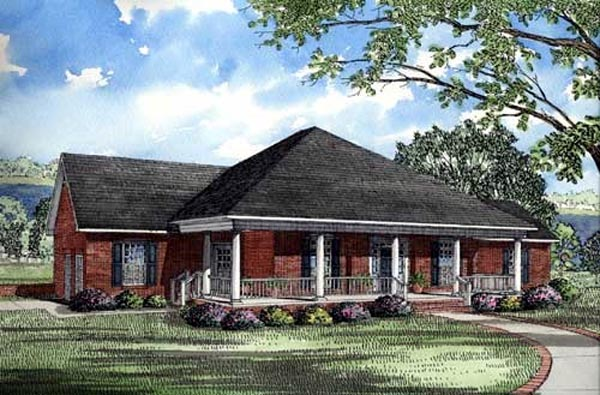 Southern Traditional House Plan 61053 Elevation