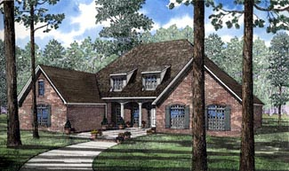 European Southern Traditional House Plan 61056 Elevation