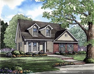 Cape Cod, Traditional House Plan 61063 with 3 Beds, 3 Baths, 2 Car Garage Elevation