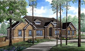 Traditional House Plan 61067 with 4 Beds, 9 Baths Elevation